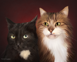 Feline Brothers by ThreshTheSky