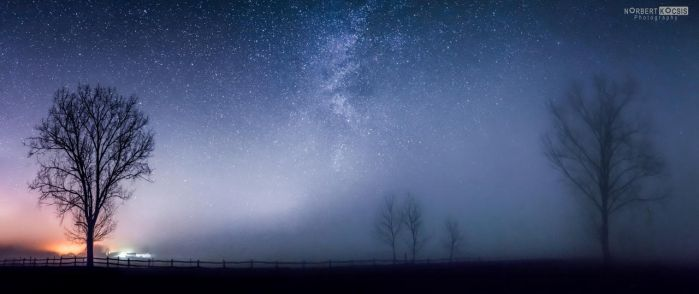 The night in fog by NorbertKocsis