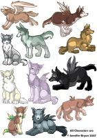 Collection of Wolves by creaturekebab