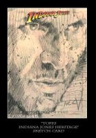 Sketch Card-Indiana Jones 18 by TrevorGrove
