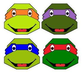 TEENAGE MUTANT NINJA TURTLE FACES !!! by SmurfyCarl-42