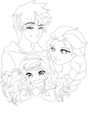 Coloring Pages Of Elsa And Jack Frost.  Elsa by Rurutia8 Frozen lineart EKelrick Free sunnymelodyy pissed D eHillustrations Jack Frost LadyMika s Page x on DeviantArt
