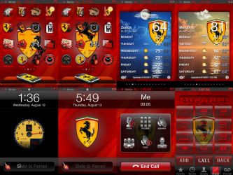 iPhone Theme-Ferrari by At0mArt