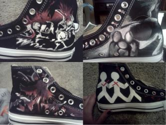 Three Days Grace Shoes by GiveUsNovacaine