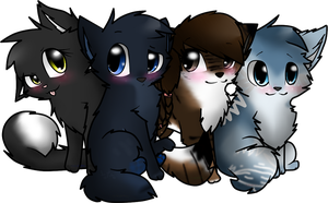 .:.pc:. the four chibis by Mindy-cupcake