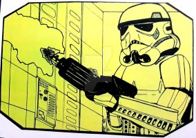 Imperial Stormtrooper (early sketch) by jose77sanchez