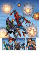 Jerry's Spidey page colored by seanforney