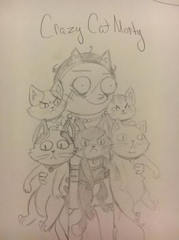 Crazy Cat Morty by Lilies05