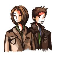 Winchester brothers by Dreamsoffools