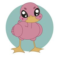 VECTOR REQUEST - The pink duck #1 by puh-gly