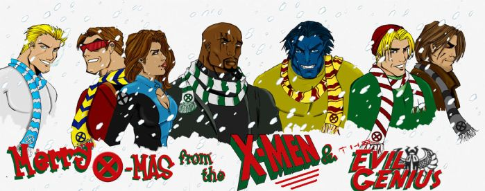 X-men X-mas by LycanLover