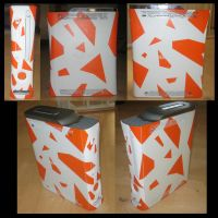 Custom orange Xbox 360 by Tim-skafte