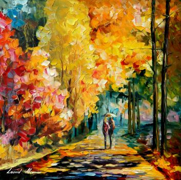 Together Down The Forest by Leonid Afremov by Leonidafremov