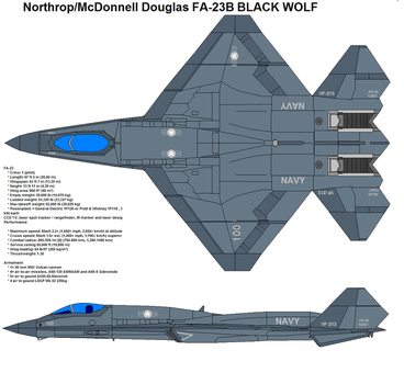 FA-23 black wolf by bagera3005