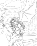 Dragon Girl - Revisited Lines by Miserie