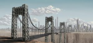 The Bridge into the City of Lud by VonStreff