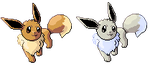 Large Eevee Pixel-overs by Axel-Comics