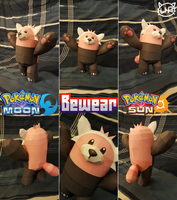 Pokemon Sun and Moon Papercraft ~Bewear ~