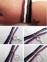 Asexual pride bracelet by AestheticSaturn