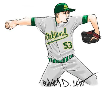 A's pitcher Cahill by pilpina77