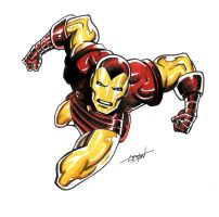 Iron Man Marker Sketch by LostonWallace