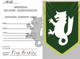 Blank Amestrian Military ID Card by docwinter