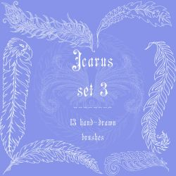 Icarus set 3 by rL-Brushes