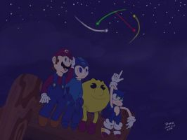 Under the starry sky by outerbluefox