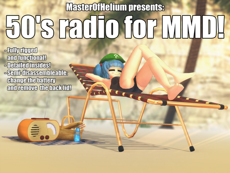 [MMD accessory download] 50's radio by MasterOfHelium