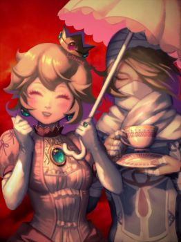 Peach and Sheik by bellhenge