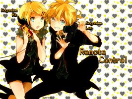 [Kagamine Rin and Len] Remote Control [1024x768] by Cryokor