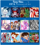 2016 Summary of Art by Rainy-bleu