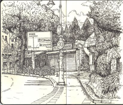 Sketchbook - Near Schlesisches Tor U-Bahn by keiross