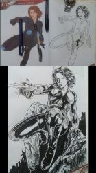 Black Widow Avengers Coloring Book by RapidBlade