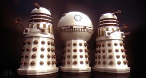 Imperial Daleks with Emperor by AntLamb