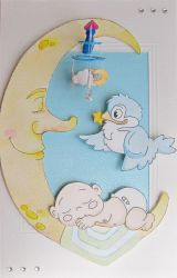 Mooney baby card by Coccis