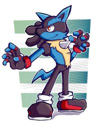 Lucario in Sonic Battle Style by LucarioOcarina