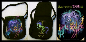 Creepy Carousel Horse Bag by IceandSnow