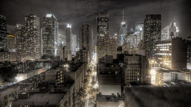 New York at night by delysidlsd