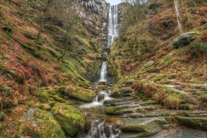 Pistyll Rhaeadr Falls HDR by twilliamsphotography