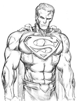 Superman sketch by Comicbookist