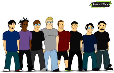 Dave's 1 World Comic Characters Concepts by PowerStroke3