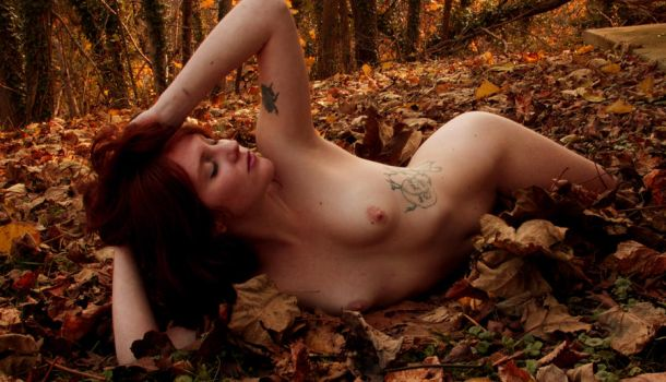 Redhead in the Fall Foliage by afplcc