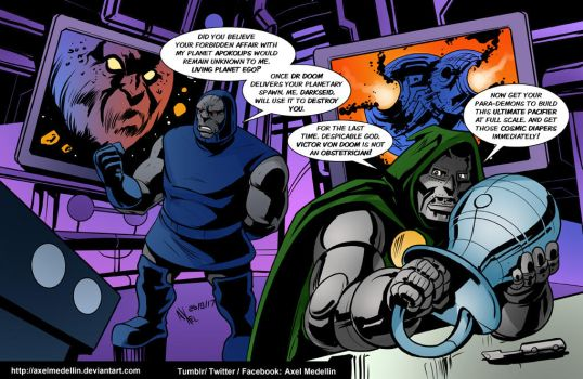 TLIID 356. Doctor Doom  and Darkseid. And Ego. by AxelMedellin