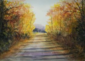 Autumn Road by Eddyfying