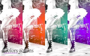 4 colors actions by twilightpurelove