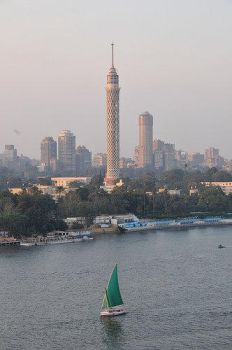cairo tower from four season's hotel in Egypt by heshamahmed