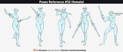Poses Reference #52 (female) by Anastasia-berry