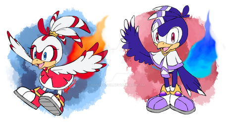 CLOSED  Paypal Adoptables - Phoenix Twins by Togekisser