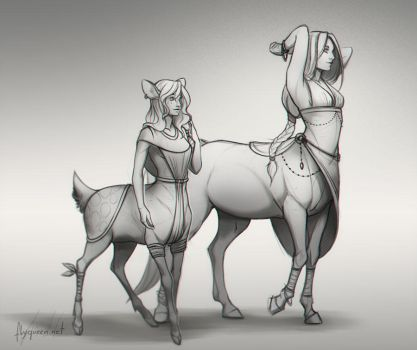 Centaurs by FlyQueen